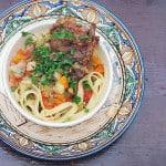 Lamb vegetable noodle stew, Lagman