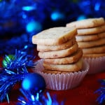Almond shortbread cookies with Amaretto