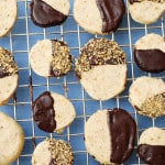 Chocolate covered hazelnut shortbread cookies, Christmas cookies