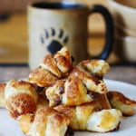 Rugelach with pecan and raisin filling
