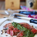 Flank steak and Chimichurri sauce