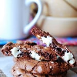 Outrageous chocolate cookies with white chocolate chips | JuliasAlbum.com