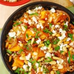 Quinoa with Roasted Butternut Squash, Pine Nuts, and Feta