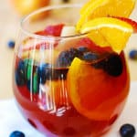 Red Sangria with Mixed Berries