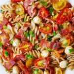Pasta Salad with Bacon, Tomatoes, and Mozzarella